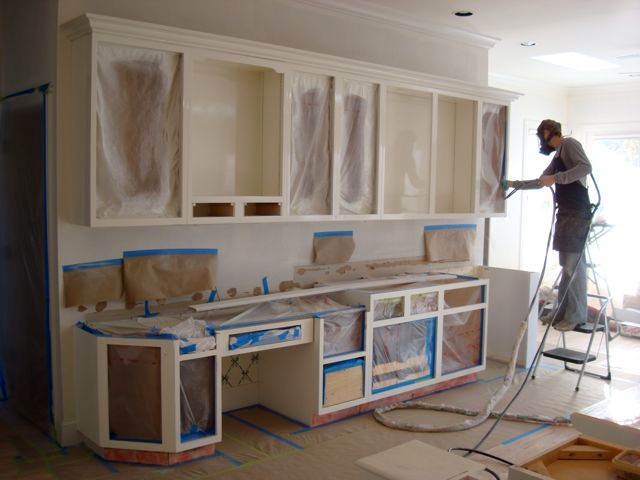 Paint Or Finish Built In Cabinets Home Libraries Or Kitchen Cabinets